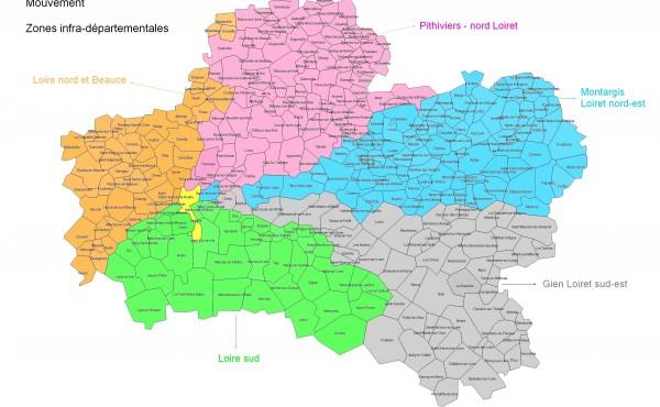 Les zones infra-départementales