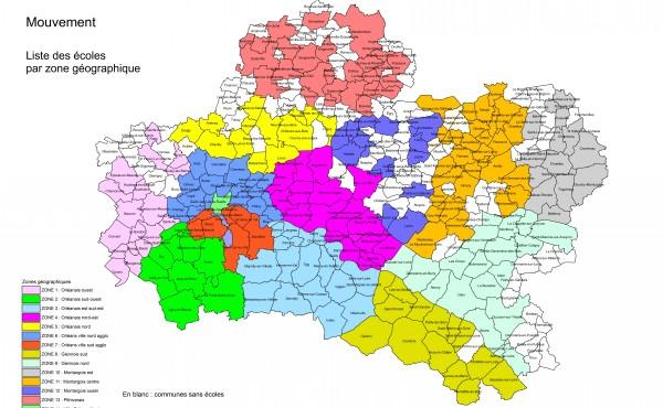 Les zones géographiques