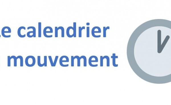 Le calendrier du mouvement 2021